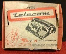 Vintage Remco Pair Telecom Interphone System Wired Telephone Room Game Box