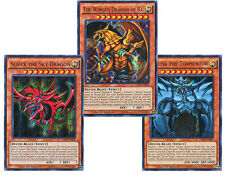 YUGIOH EGYPTIAN GOD CARD SET SLIFER, RA, OBELISK Ultra Rare Limited Edition LDK2