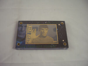 Star Trek Spock 24K Gold Signature and Logo Card by Authentic Images