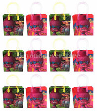 New Disney Trolls Birthday Party Favors Medium Goodie Bag 12pc Gift Set Bags