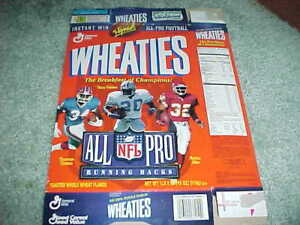 1996 Barry Sanders Thurman Thomas Marcus Allen Wheaties Box Kansas City Chiefs