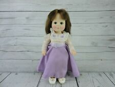 Vintage Cameo's Katie Baby Doll Sleepy Eyes by Jesco 1984 Purple Dress Caucasian