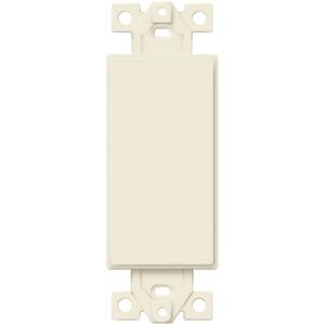 ENERLITES 1 Gang Blank Decorator Wall Plate Insert Light Almond