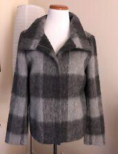 NEW! Talbots Wool Alpaca Blend Gray Square Pattern Coat - Size 10 Orig. $249