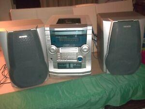 Aiwa AM/FM -Stereo System- 3-Disc CD Player  -Super Bass- CX-NAJ50,