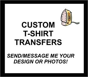 ::::::::::CUSTOM IMAGE OR PHOTO TURNED INTO A IRON ON ::T-SHIRT IRON ON TRANSFER