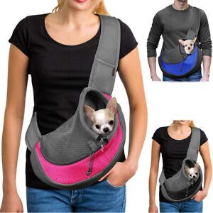 Pet Dog Sling Carrier Breathable Mesh Travel Safe Sling Bag Carrier for Dogs Cat