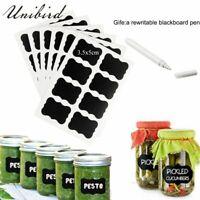 Spice Jar Labels Bottle Stickers Vintage Herb Blank Custom Rewritable Black