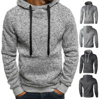 Autumn Winter Men Warm Sweatshirt Loose Long Sleeve Hooded Pullover Sweater Tops