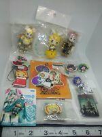 12pc Hatsune miku figure keychain strap charm pin badge button kawaii anime lot