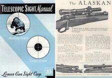 Lyman 1953 Telescopic Sight Manual