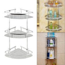 Boulangère d'Angle 3 Etages Support de douche étagère de rangement de salle bain