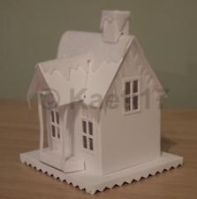 Tim holtz sizzix village dwelling+winter die cut kit precut building felt snow