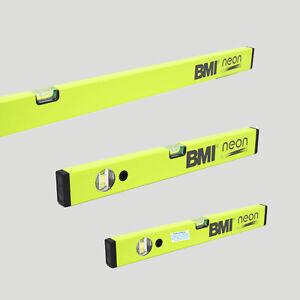 Aluminium Wasserwaage BMI NEON Neon Gelb beschichtet verschiedene Längen