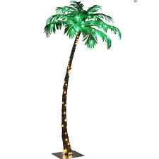 Small Lighted Palm Tree 5ft 56 LED In Door Artificial Tropical Plant Home Decor