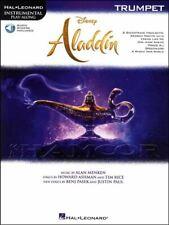 Disney Aladdin Instrumental Play-Along Trumpet Music Book/Audio Soundtrack Film