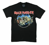 Iron Maiden Wasted Years Black T Shirt New Official Adult