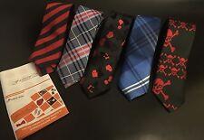 Dan Smith 100% MICROFIBRA Skinny CRAVATTE HAND MADE Dan Smith x5 cravatta GRATIS
