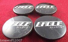 Eagle Alloys Wheels Black Custom Wheel Center Caps Set of 4 # 138