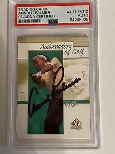 Rare Slabbed Arnold Palmer Autographed  Signed Golf Card PSA/DNA Authentication