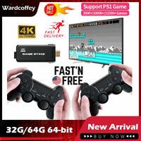 Mini 4K HDMI TV Game Stick 10000+ Retro Classic Games Console With 2 Controller!