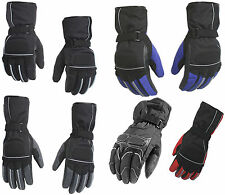 Mens Motorbike Motorcycle Biker Winter Warm Thermal Textile Protective Gloves