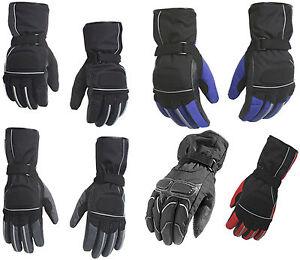 Mens Motorbike Motorcycle Biker Winter Warm Thermal Textile Protective Gloves