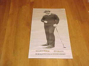 1969 Slammin Sam Snead Extra Large Golf Afrin Advertising Piece PGA