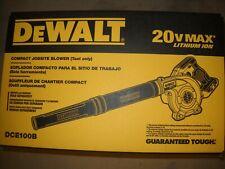 DEWALT DCE100B 20V MAX Compact Jobsite Blower NEW
