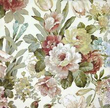 3 x Single Paper Napkins For Decoupage Craft Kate Vintage Flowers On Cream M378