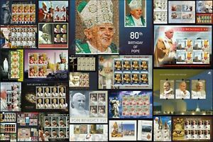 POPE Benedict XVI MNH 2006 to 2008 SCARCE 28x Mini Sheets & 22x Stamps RELIGION