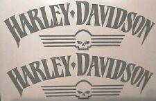 Harley Davidson Iron Tank Skull Aufkleber in 20 ×6 cm.Top Neu 2 Stück div.Farben