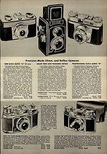 1955 PAPER AD Dejur Twin Lens Reflex Camera New Iloca 35 MM Quick B Ditto