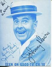JOHNNY DOWNS OUR GANG HAL ROACH RASCALS CHILD ACTOR SIGNED PHOTO CARD AUTOGRAPH