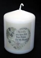 Pet Memorial Candle with pets name remembrance keepsake