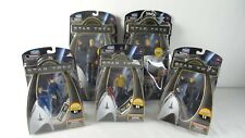 5 STAR TREK Action Figures Galaxy & Warp Collection Playmates 2009 Kirk Spock