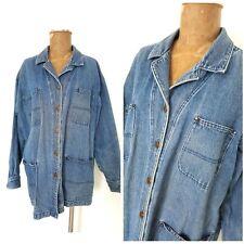 Vintage 90s Gotcha Covered Jean Jacket Size Large Distressed Coat USA Grunge