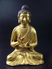 Large Fine Old Chinese Tibet Gilt Bronze Tibetan Buddha Sakyamuni Statue