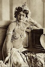 MATA-HARI VINTAGE FRENCH NUDE EXOTIC BELLY DANCER WOMAN WWI SPY SUPERB PHOTO