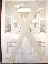 Copia Fot Progetto pianta tavola di villa villetta liberty ing Salvatore Caronia