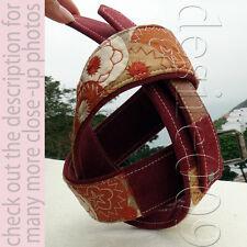 Dries Van Noten Burgundy Taupe & Beige Embroidered Canvas Belt 85/M-L