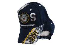U.S. Navy USN A Global Force For Good Camo Navy Blue Embroidered Cap Hat