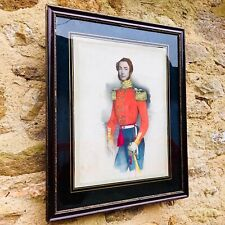 More details for hand coloured antique cavalry officer print from engraving j melcher 1848