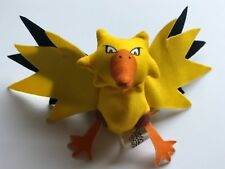 "ZAPDOS Pokemon Plush 4"" Soft Nintendo Burger King 2000 Promotional Figure ""NEW"""
