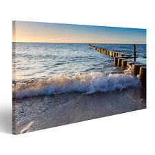 Bild Bilder auf Leinwand Wellen am Strand auf Ostsee EKS-1P