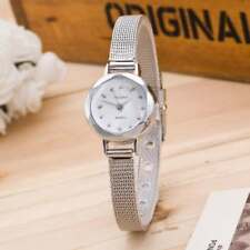 ⌚️ Ladies Small Dial Petite SILVER Facet Face Gemmed Wristwatch ⌚️ ( UK SELLER )