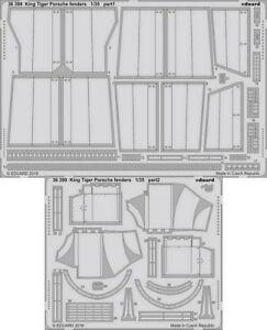 Eduard 1/35 King Tiger Porsche Fenders Detail Set (PE) for Meng Models