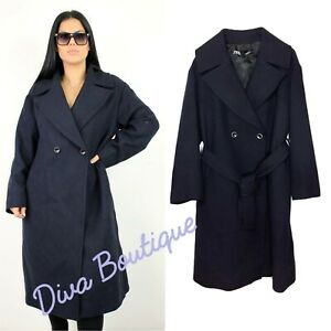 Zara AW 2018/19 Blue Coat Size M Free P&P Brand New