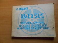 Officina MANUALE NEGOZIO Service Manual RD 125 LC (10w) Manuel D 'Atelier