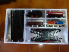 vecchia scatola LIMA con LOCOMOTORE + VAGONI + BINARI + PASSAGGIO LIVELLO